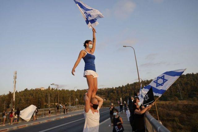 Демонстрация против ковидных ограничений вблизи Иерусалима