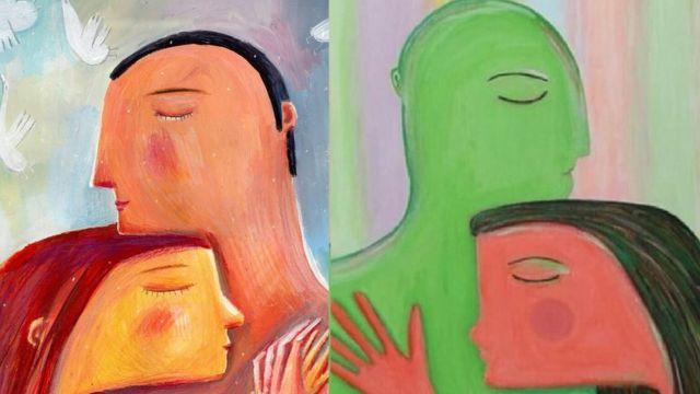 نقاشی سمت راست کار خانم میلیهوف است و نقاشی سمت چپ کار خانم میلانی