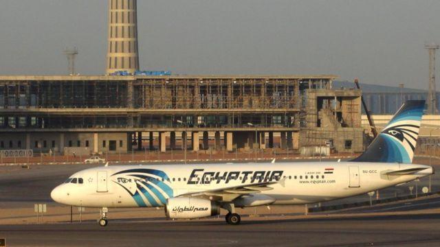 消息を絶ったエジプト航空機(写真は2014年撮影、カイロ空港で)