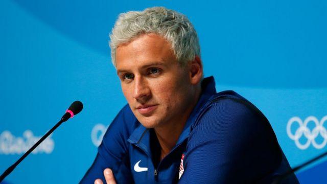 Ryan Lochte durante una rueda de prensa en las Olimpiadas de Río 2016