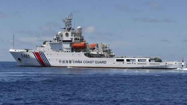 Chinese coast guard boat in South China Sea