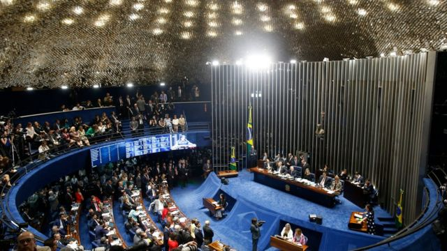 Sesión parlamentaria del impeachment de Dilma Rousseff