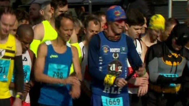 Thousands of people have been taking part in the 35th Belfast City Marathon