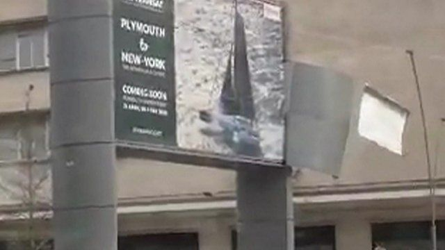 Billboard in Plymouth city centre