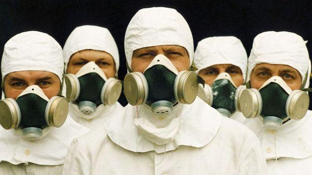 Uma equipe de provas de radiação