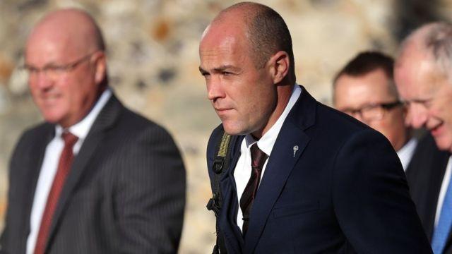 Emile Cilliers llegando al tribunal
