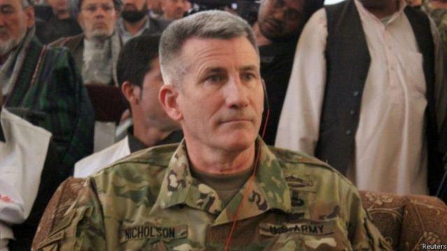 ژنرال نیکلسون، فرمانده ارشد نیروهای آمریکا و ناتو در افغانستان