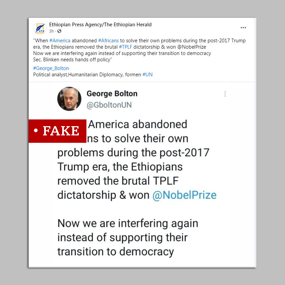 Screengrab of post quoting George Bolton