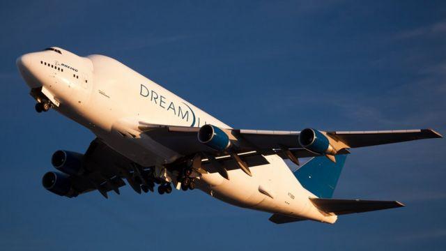 Avión Dreamlifter de Boeing.
