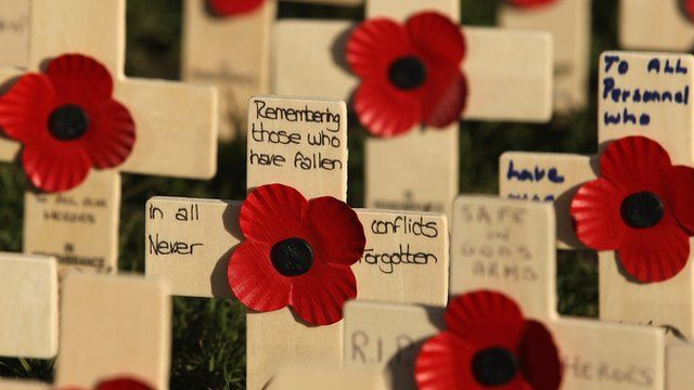 How a remembrance day poppy is made bbc news tim muffett went to see how remembrance day poppies are made mightylinksfo