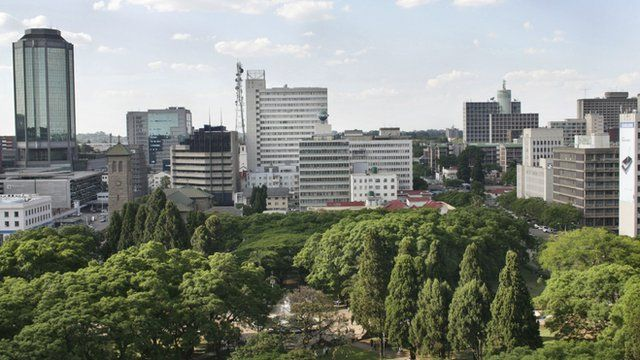 Skyline in Harare, Zimbabwe