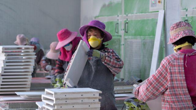 중국 여성 노동자