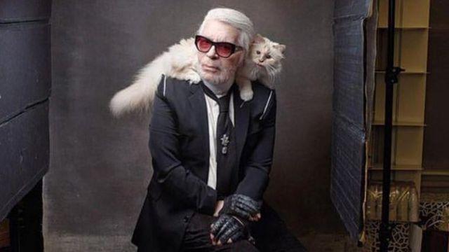 Lagerfeld ve kedisi Choupette