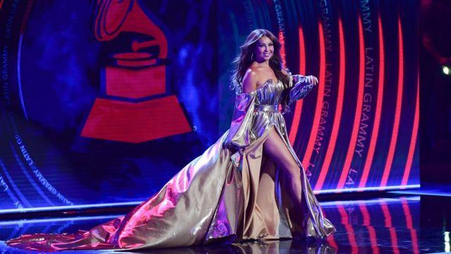Thalía en los Latin Grammy 2018