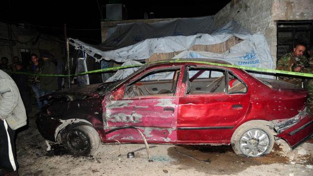 تفجير منطقة كفر سوسة في دمشق