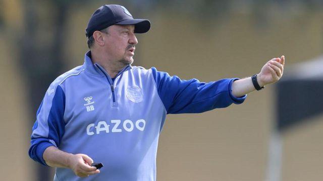 Everton manager Rafael Benitez