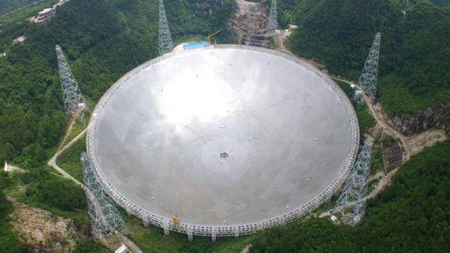 El Telescopio de Apertura Esférica o FAST de China.
