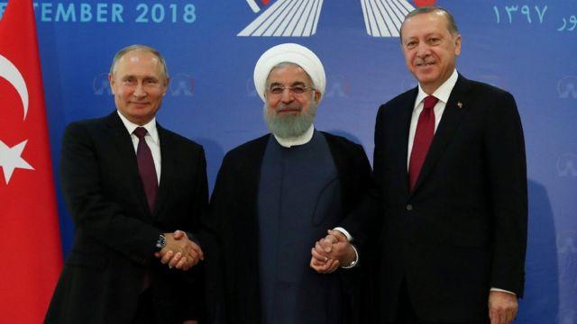 Владимир Путин, Хасан Роухани, Реджеп Тайип Эрдоган