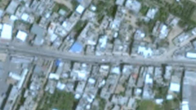 Google Earth'teki Gazze fotoğraflarının çözünürlükleri düşük
