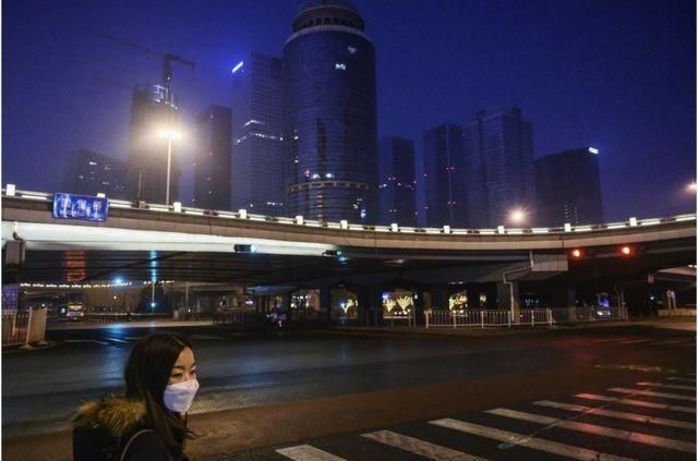 北京街頭行人稀少