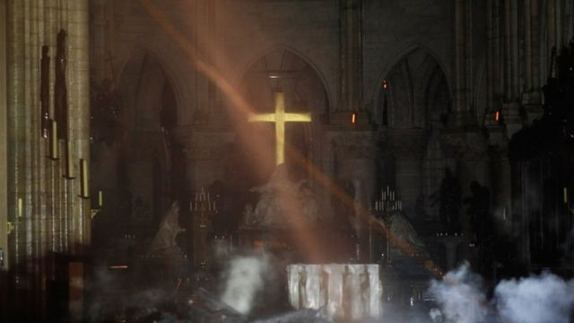 Notre Dame fire: Welsh churches toll bells for Paris cathedral