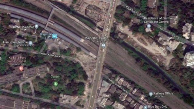 দক্ষিণ কলকাতার আলিপুরে মাঝেরহাট ফ্লাইওভার