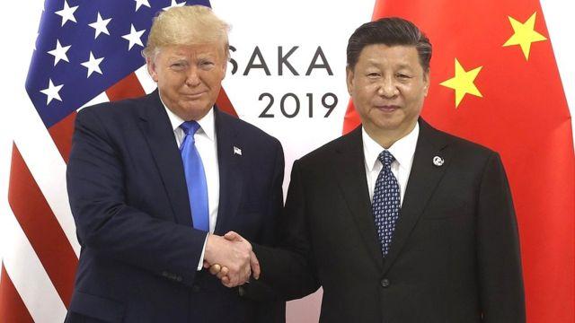 Trump y Xi en el G20 en Osaka