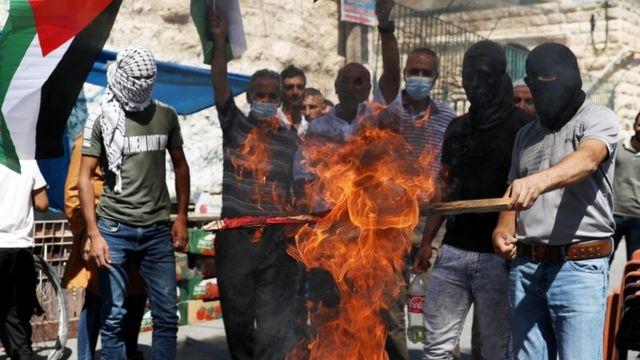 اعتراض فلسطینیها به توافق امارات و اسرائیل