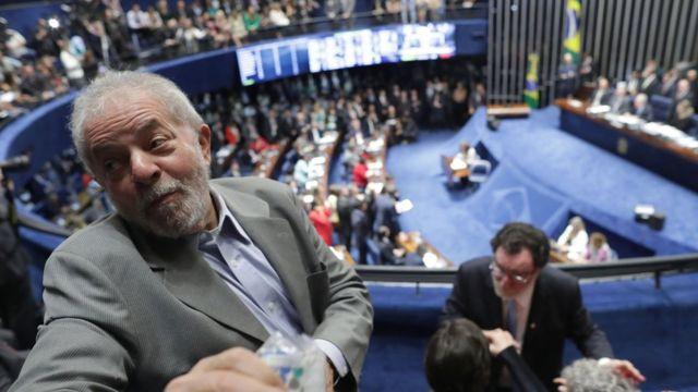 Luiz Inácio Lula da Silva, presente en el Senado de Brasil