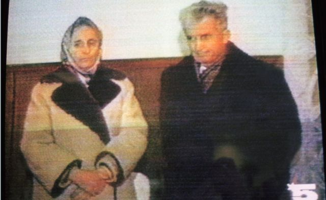 Ceaucescu and his wife Elena were found guilty by a military tribunal and executed by firing squad