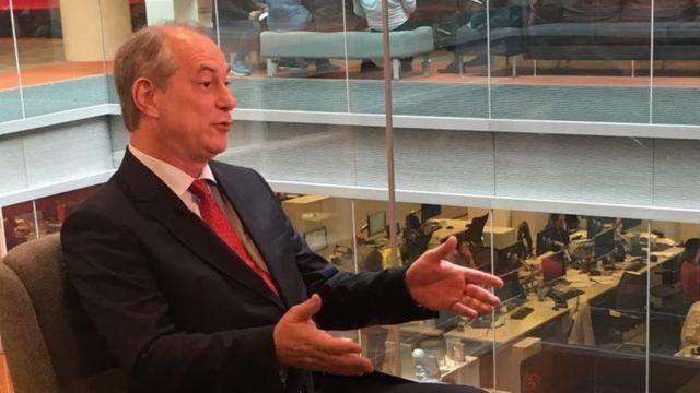 Ciro Gomes em entrevista à BBC News Brasil em maio de 2017
