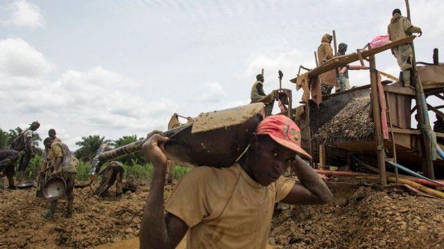 àwọn ibi ìwakùsà lóri'lẹ̀èdè Ghana