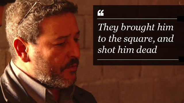 A man from Sirte describes how his brother was publicly executed and crucified by so-called Islamic State