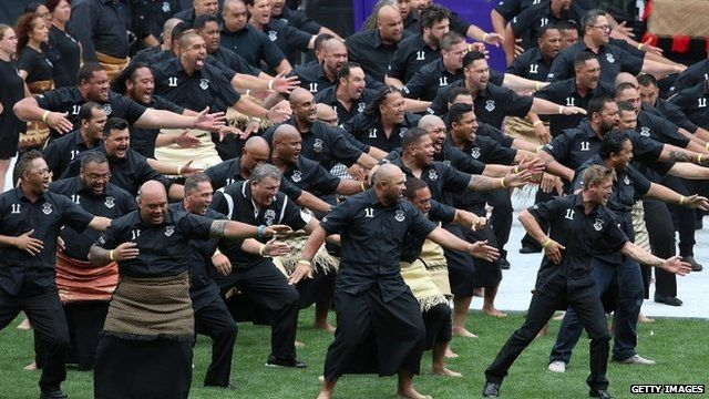A haka is performed at the memorial of Jonah Lomu