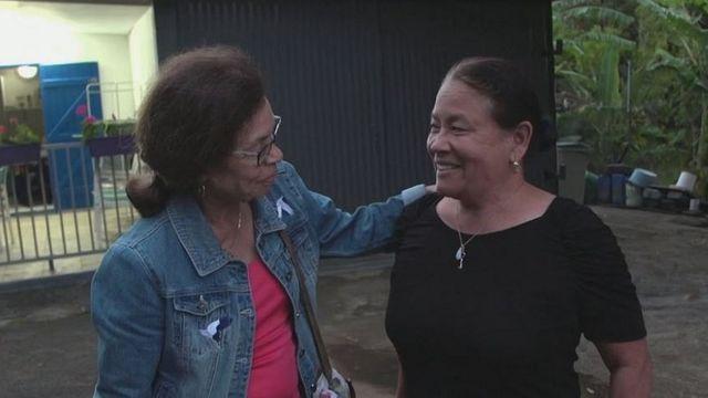 El reencuentro de Marlène con su hermana Marie-Annick.