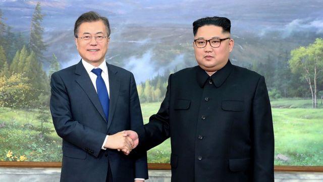 5月26日,韓國總統文在寅第二次與朝鮮領導人金正恩在板門店會晤