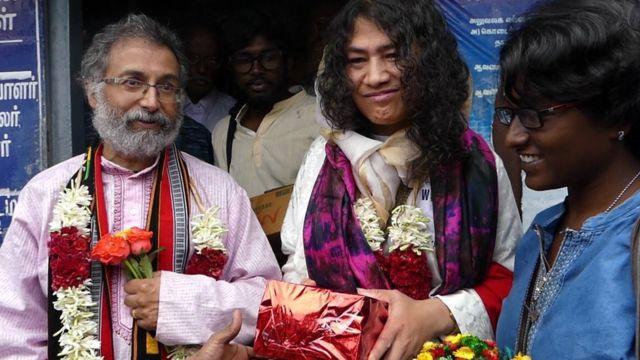 இரோம் ஷர்மிளா, டெஸ்மாண்ட் அந்தோணி ஹட்டின்ஹோ திருமண புகைப்படம்