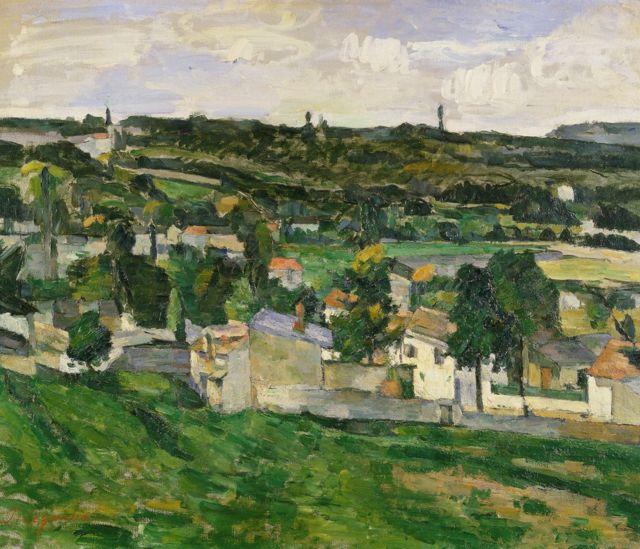 Near Auvers-sur-Oise, de Paul Cezanne