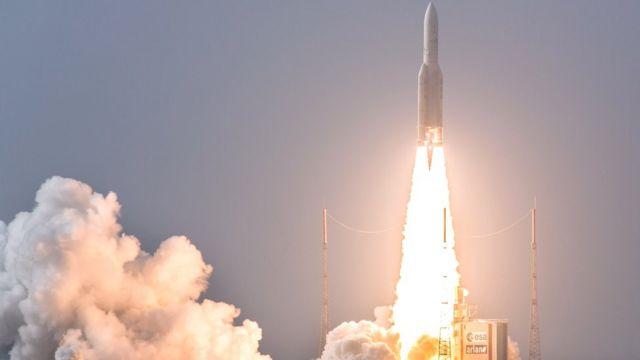 Франция запускает спутники в космос из Французской Гвианы