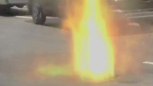 Manhole explosion in New York