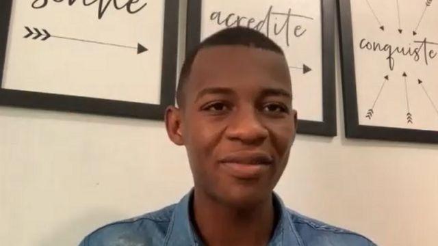 Matheus em entrevista à BBC News Brasil