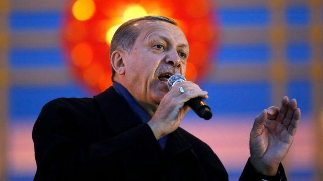 الرئيس التركي رجب طيب إردوغان