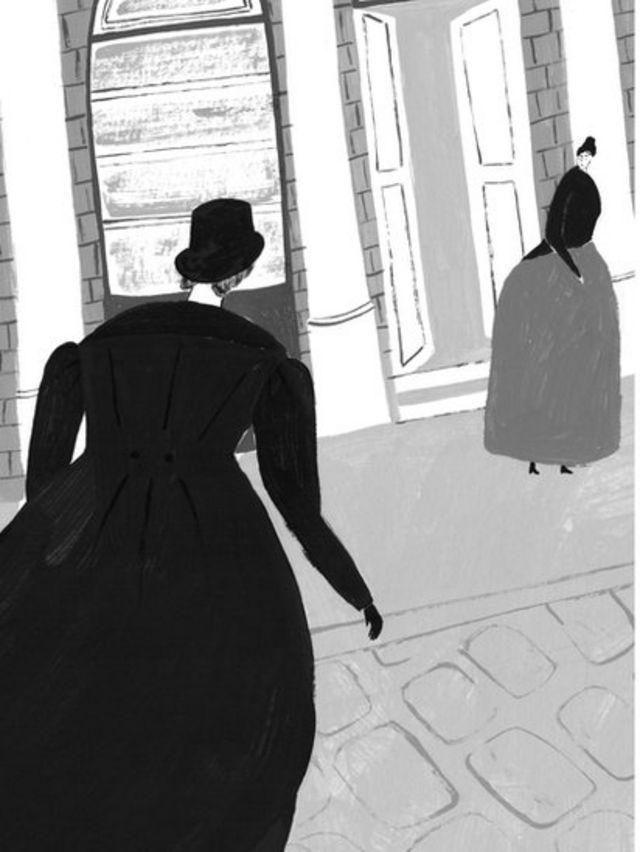 Ilustración de Anne Lister en Halifax.