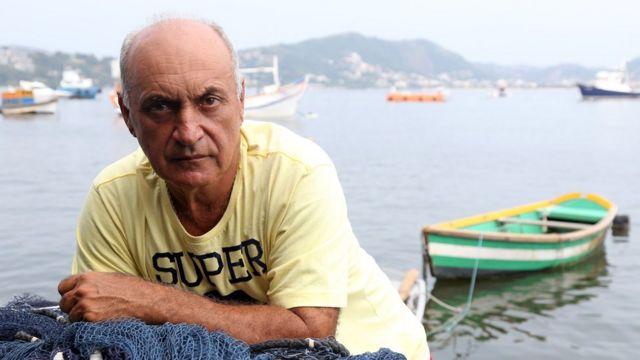 O pescador Jorge Souza Viana