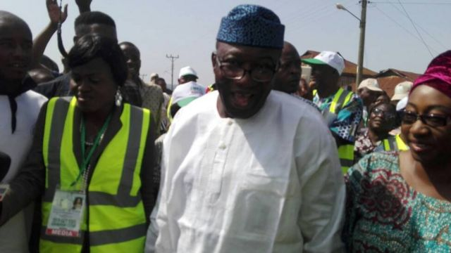 Meanwhile APC Candidate Kayode Fayemi don vote