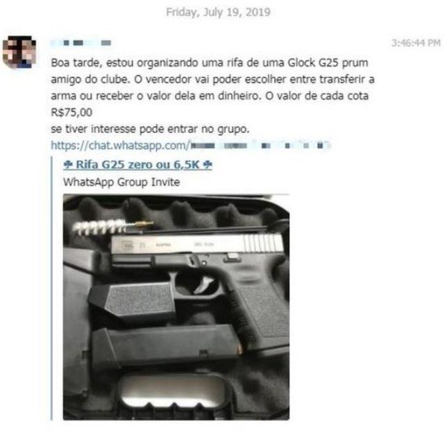 Publicação sobre pistola Glock