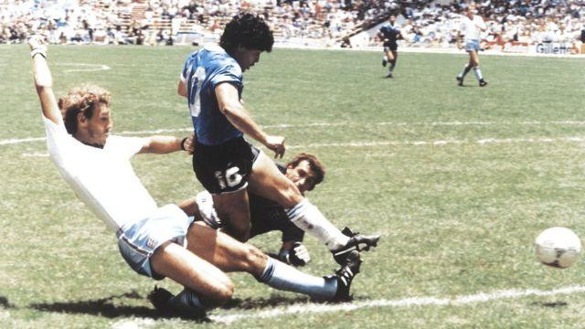 Maradona con Inglaterra