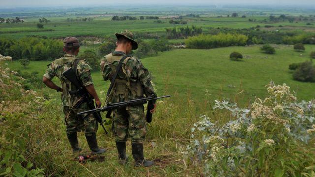 Combatientes de las Farc en una foto de archivo de 2013