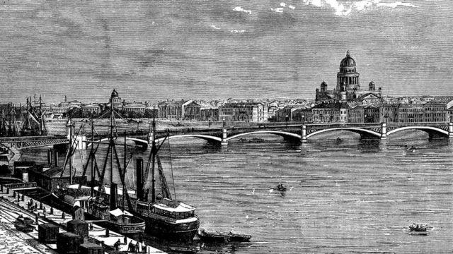 Ilustración antigua de San Petersburgo