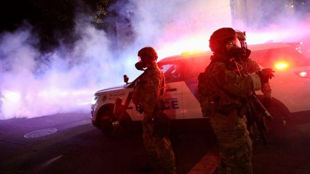 ABD İç Güvenlik Bakanlığı'na bağlı polis güçleri.